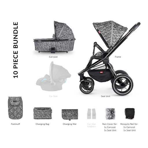 Venicci Tinum 2-in-1 Travel System - Camo Grey - Pushchair Expert