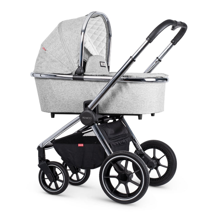 Venicci Tinum 3-in-1 Travel System - Light Grey - Pushchair Expert
