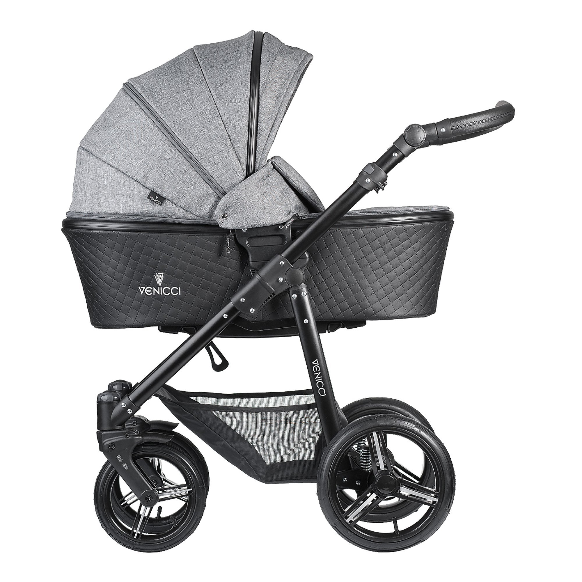 Venicci Shadow 3-in-1 Travel System - Denim Grey - Pushchair Expert