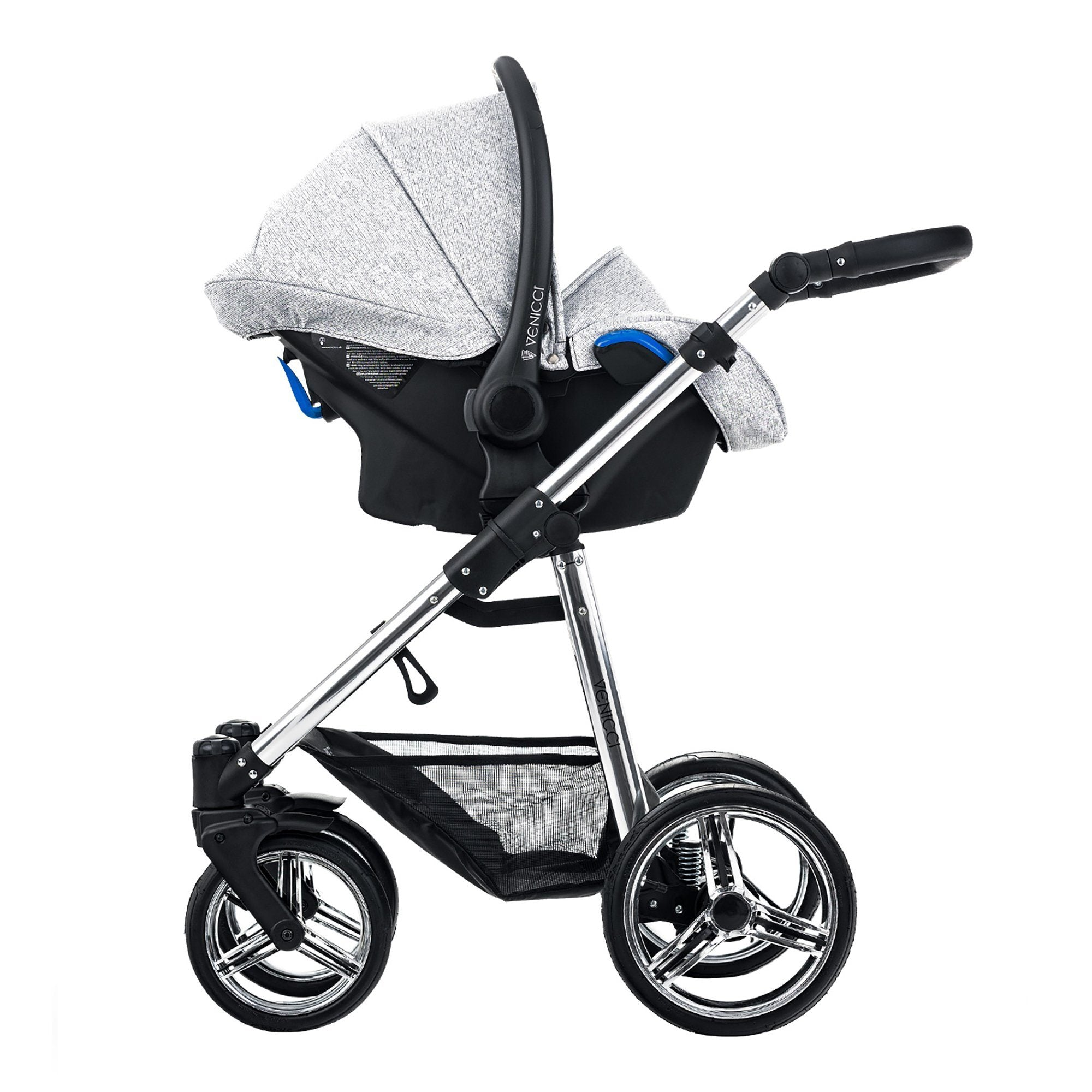Venicci Silver 3-in-1 Travel System Spark - Pushchair Expert