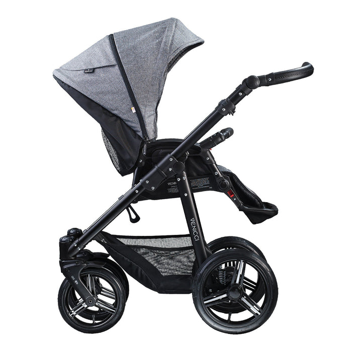 Venicci Soft 2-in-1 Black Chassis - Denim Grey - Pushchair Expert