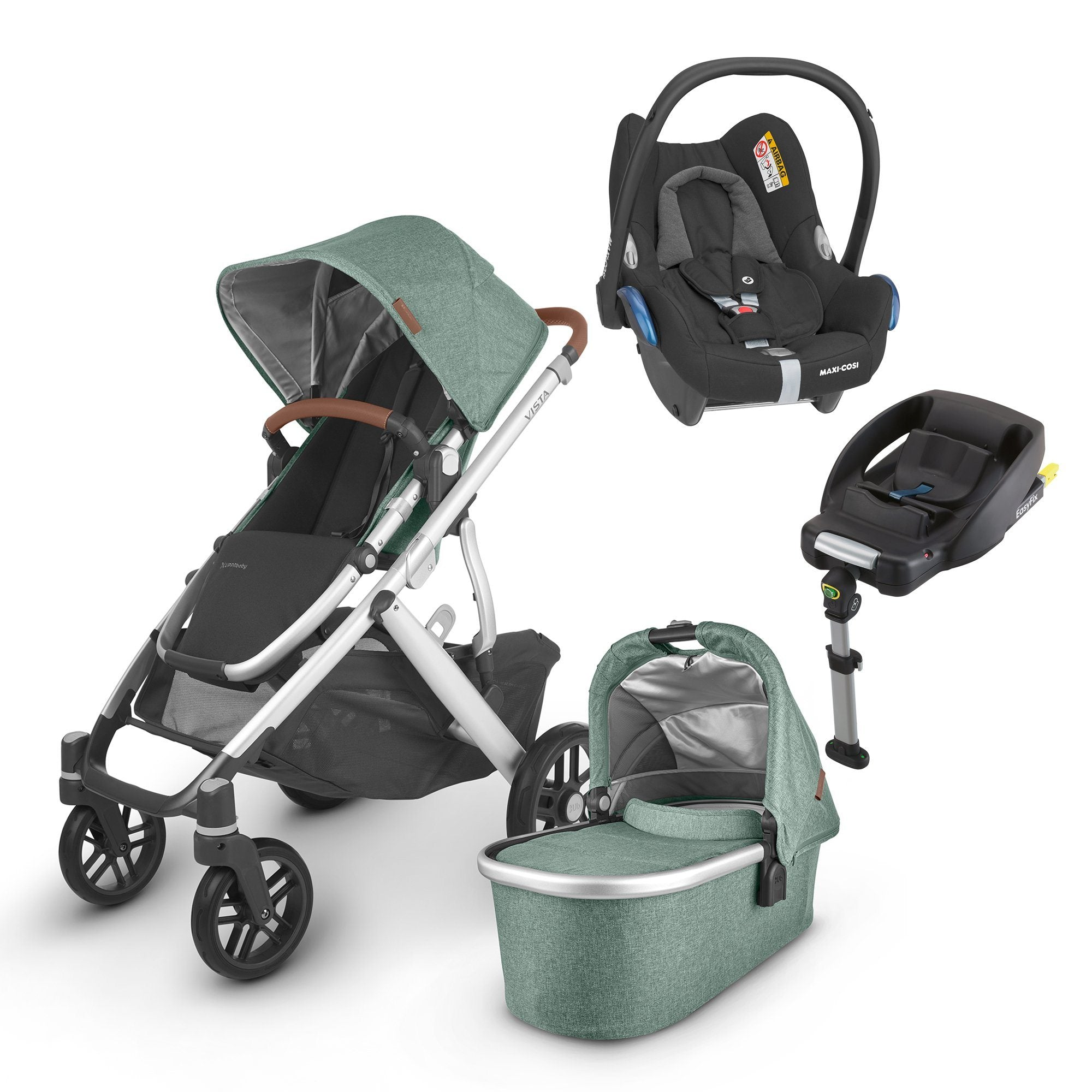 UPPAbaby VISTA V2 Travel System (2020) - Emmett with Maxi-Cosi Cabriofix and base
