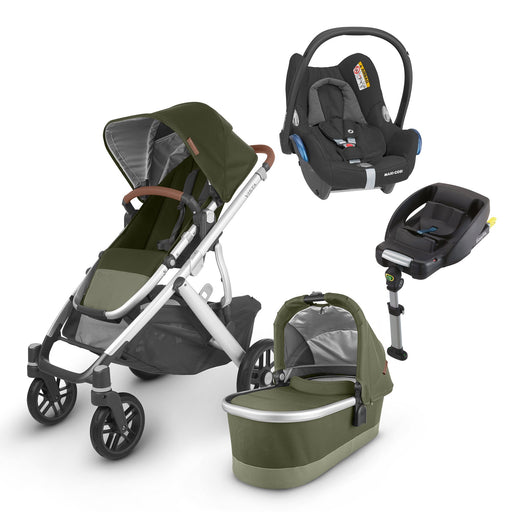 UPPAbaby VISTA V2 Travel System (2020) - Hazel with Maxi-Cosi Cabriofix and base