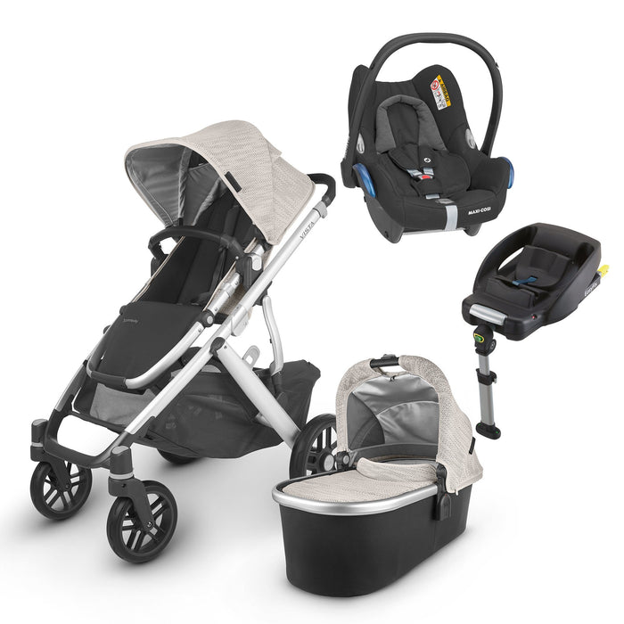 UPPAbaby VISTA V2 Travel System (2020) - Sierra with Maxi-Cosi Cabriofix and base
