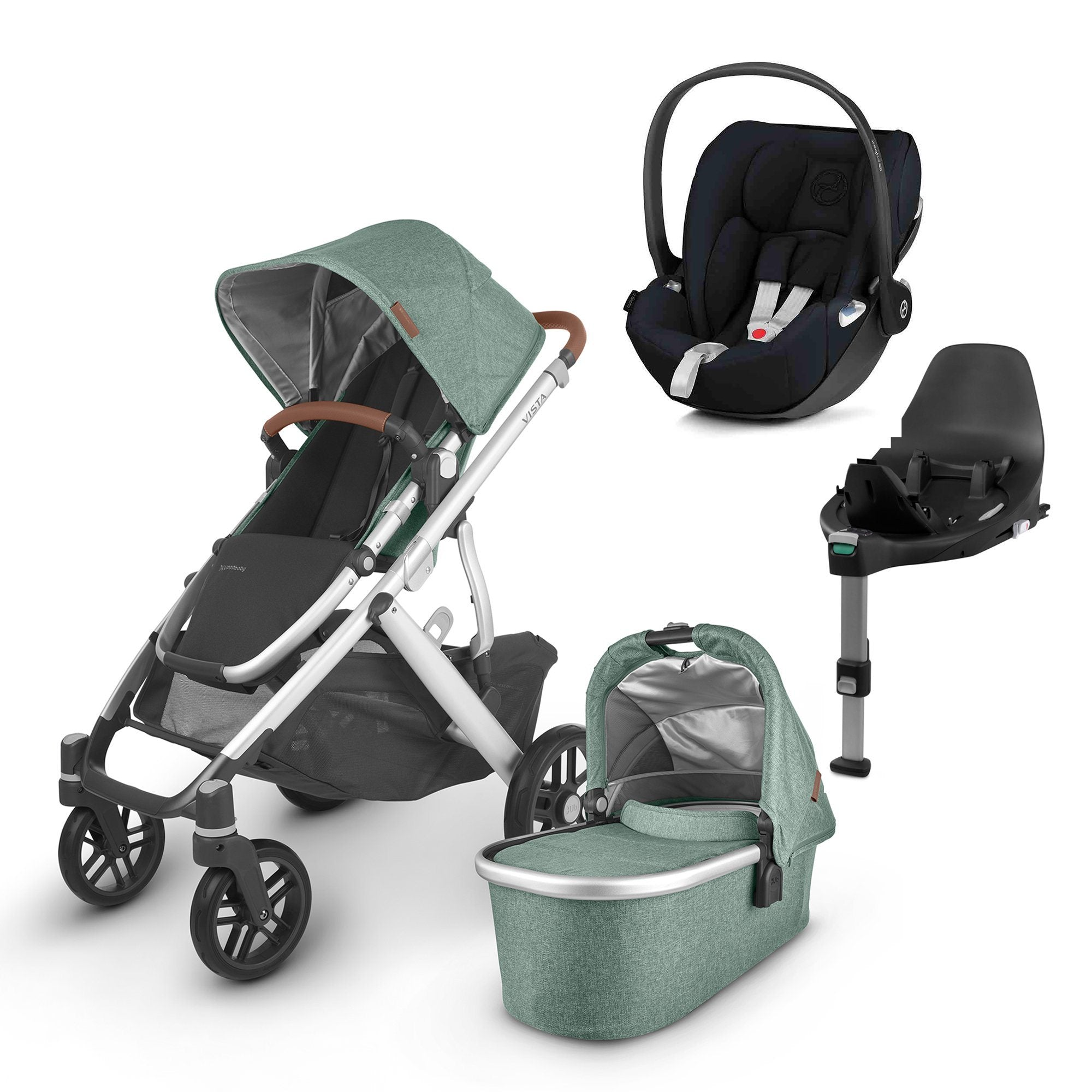 UPPAbaby VISTA V2 Travel System (2020) - Emmett with Cybex Cloud Z and base
