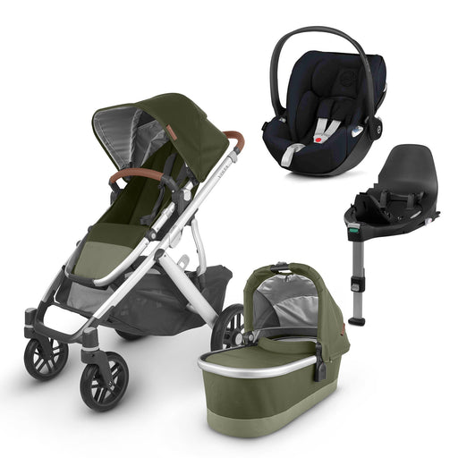 UPPAbaby VISTA V2 Travel System (2020) - Hazel with Cybex Cloud Z and base