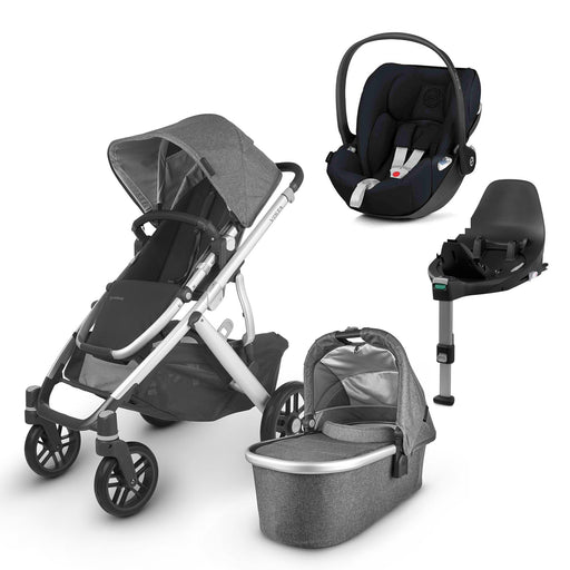 UPPAbaby VISTA V2 Travel System (2020) - Jordan with Cybex Cloud Z and base