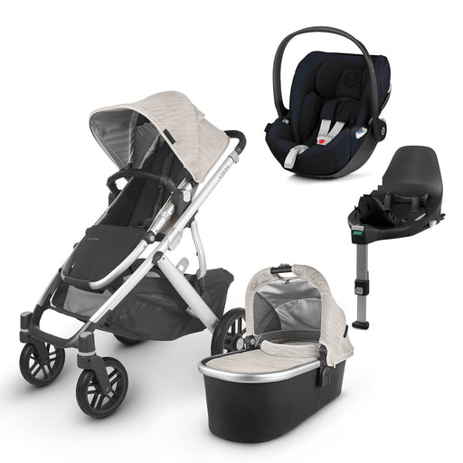 UPPAbaby VISTA V2 Travel System (2020) - Sierra with Cybex Cloud Z and base