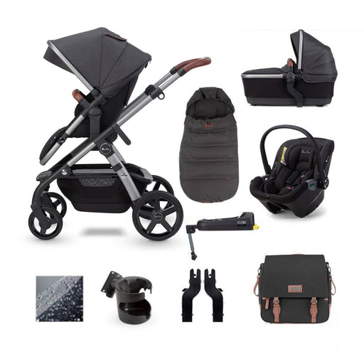 Silver Cross Wave 2020 Dream i-Size ISOFIX travel system bundle - Charcoal