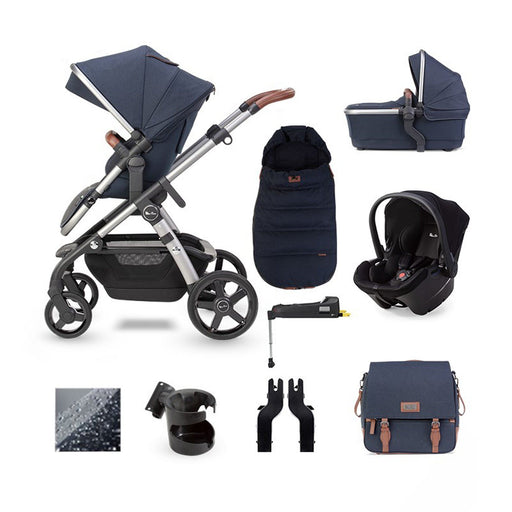 Silver Cross Wave 2020 Simplicity Plus ISOFIX travel system bundle - Indigo