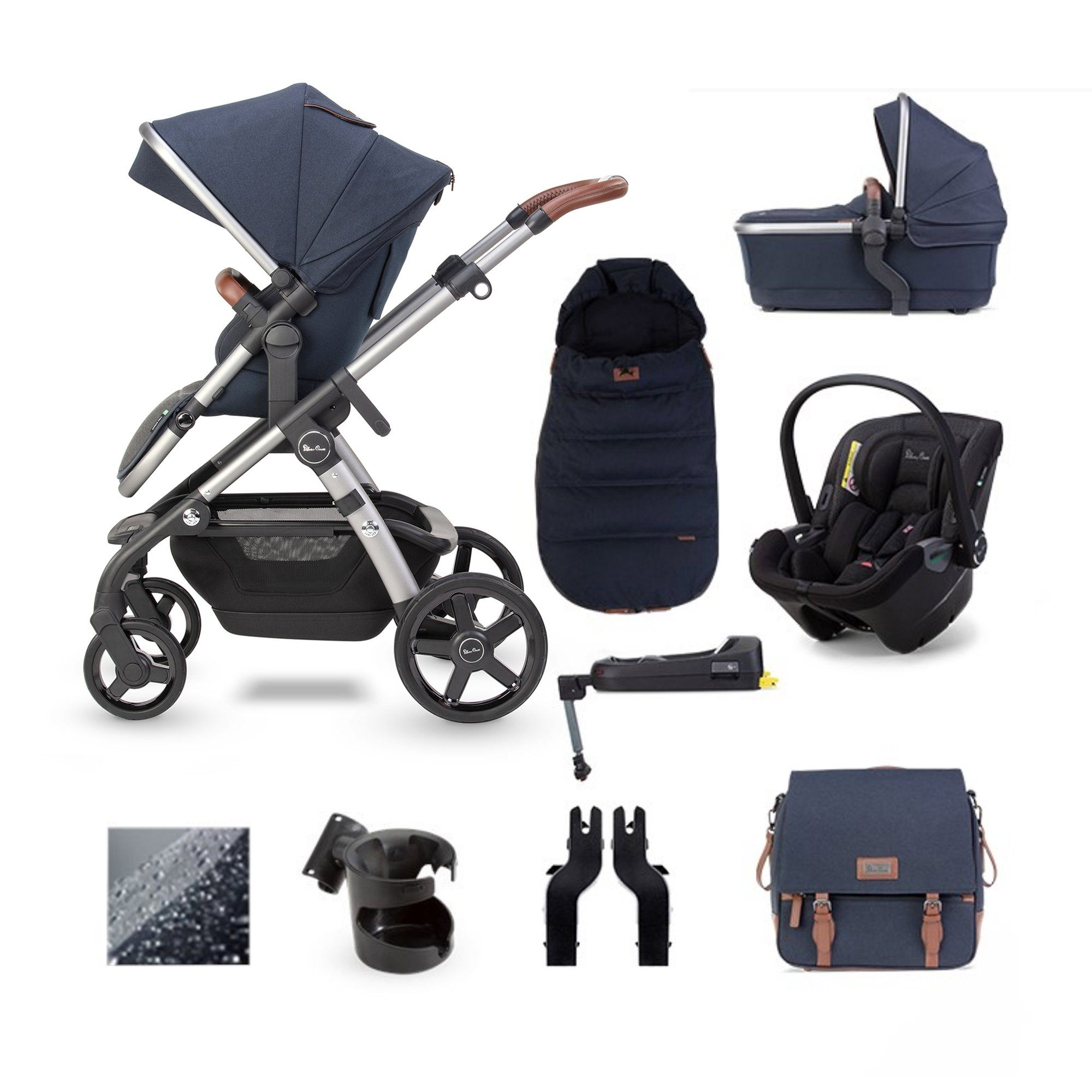 Silver Cross Wave 2020 Dream i-Size ISOFIX travel system bundle - Indigo