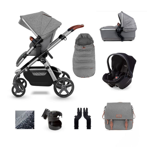 Silver Cross Wave 2020 Simplicity Plus travel system bundle - Zinc