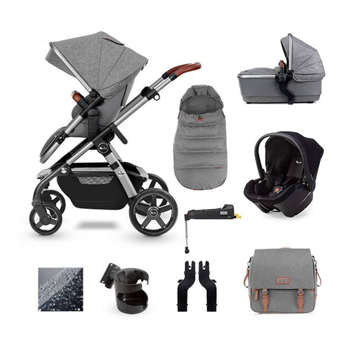 Silver Cross Wave 2020 Simplicity Plus ISOFIX travel system bundle - Zinc