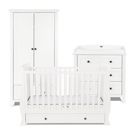 Silver Cross Nostalgia White Sleigh Complete Nursery Set
