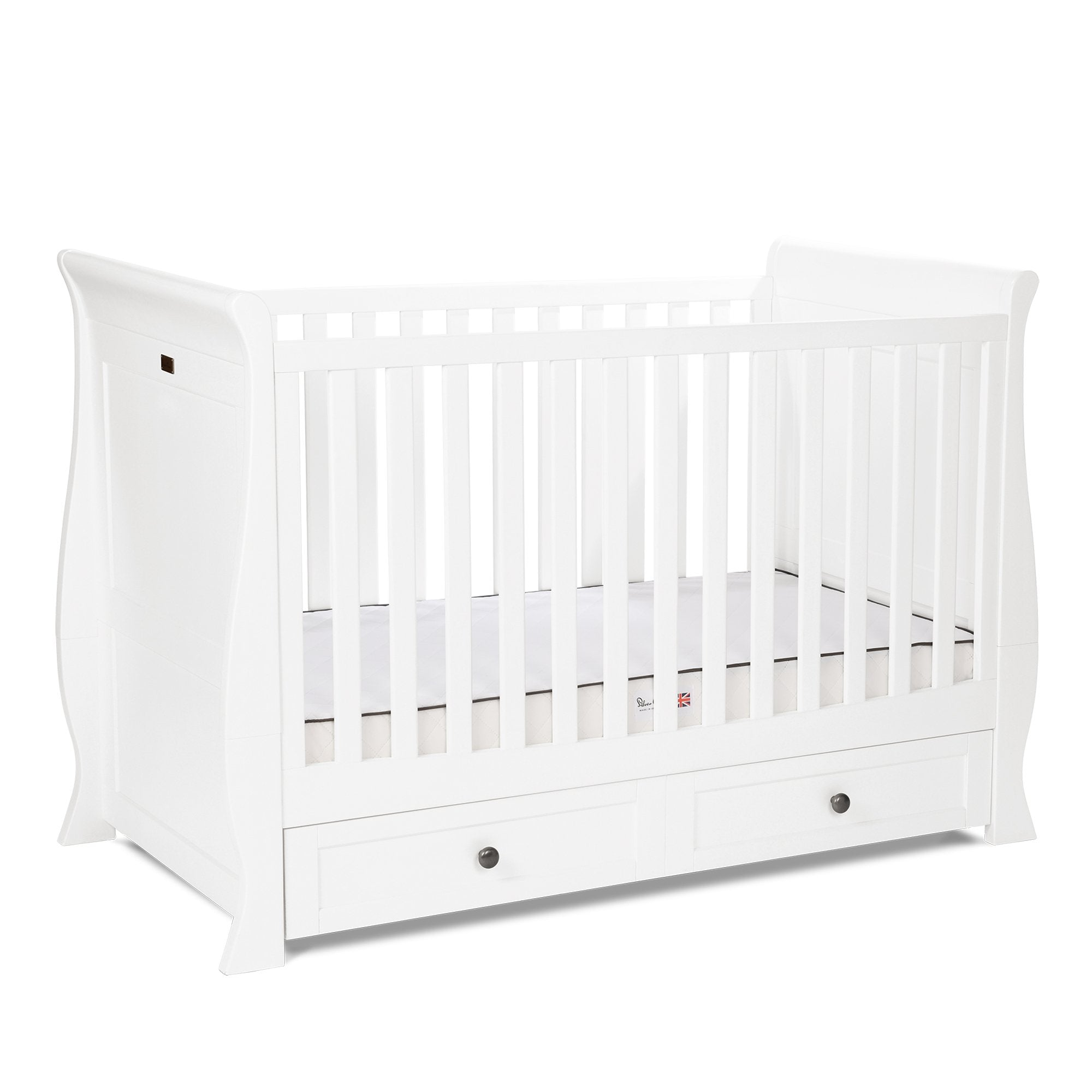 Silver Cross Nostalgia White Sleigh Cot Bed - Pushchair Expert