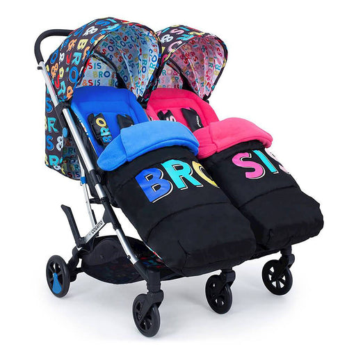 Cosatto Woosh Double Stroller - Bro & Sis