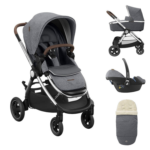 Maxi-Cosi Adorra Luxe travel system bundle - Grey Twillic + FREE ISOFIX base