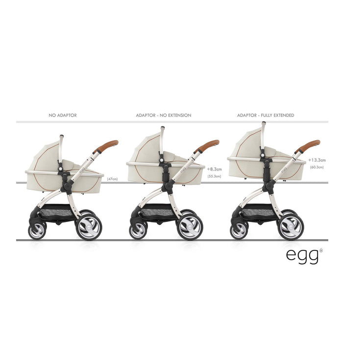 egg Adjustable Height Adaptors - Pushchair Expert