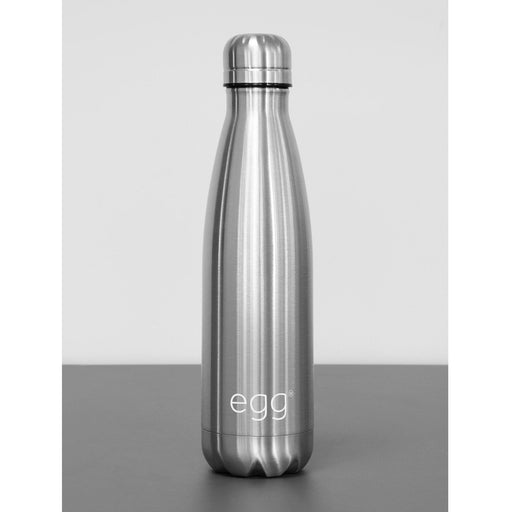 egg Water Bottle - Brushed Steel