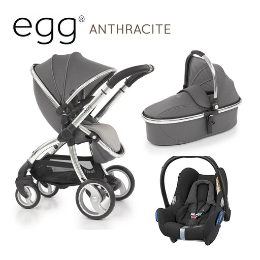 egg Stroller Anthracite Travel System with Maxi-Cosi Cabriofix