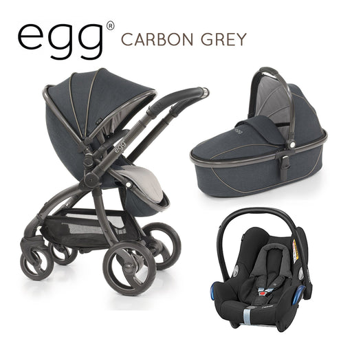 egg Stroller Carbon Grey Travel System with Maxi-Cosi Cabriofix