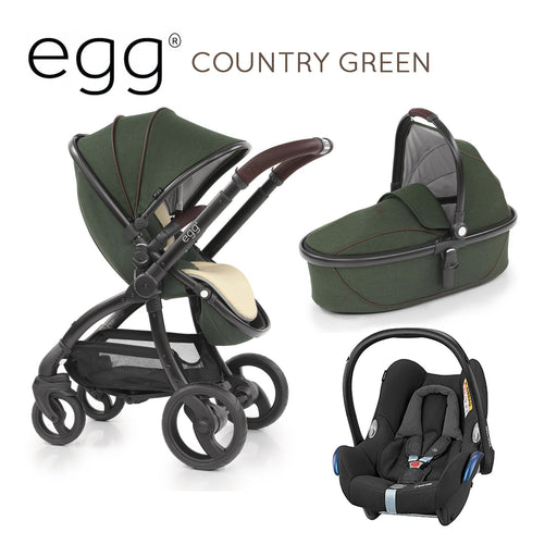 egg Travel System Country Green with Maxi-Cosi Cabriofix - Pushchair Expert