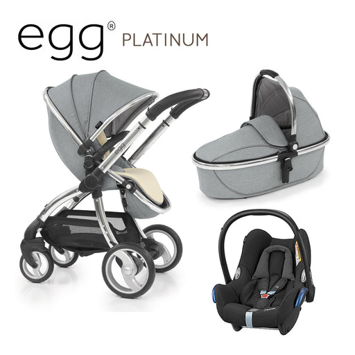 egg Stroller Platinum Travel System with Maxi-Cosi Cabriofix