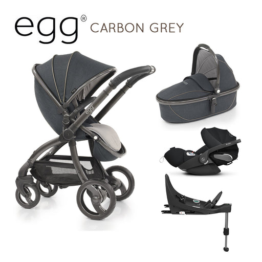 egg Stroller Carbon Grey with Cybex Cloud Z and base - Pushchair Expert