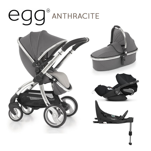 egg Stroller Anthracite with Cybex Cloud Z and base - Pushchair Expert
