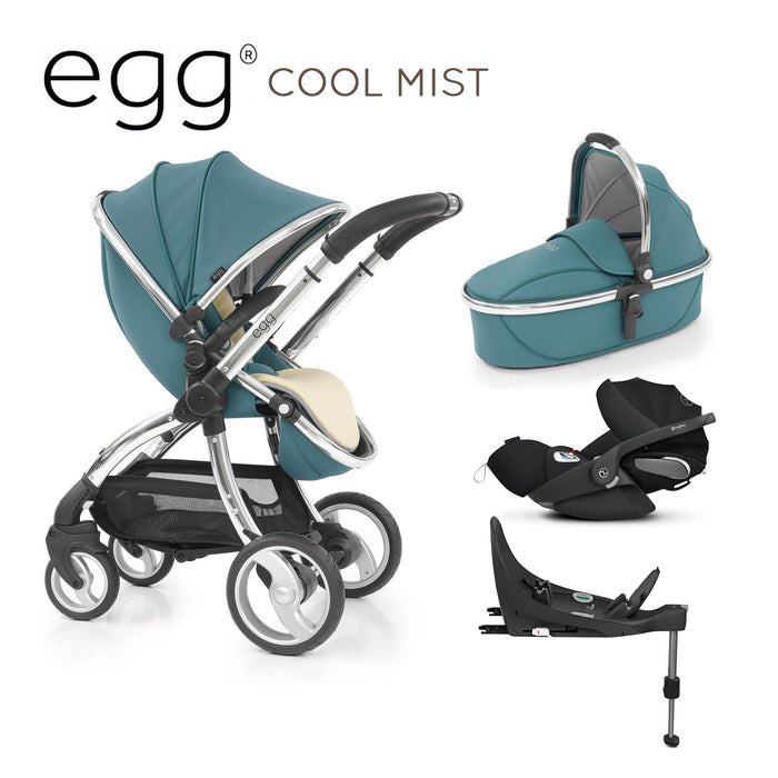 egg Travel System Cool Mist with Cybex Cloud Z and base - Pushchair Expert