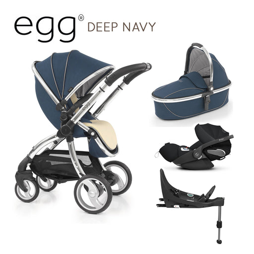 egg Stroller Deep Navy with Cybex Cloud Z and base - Pushchair Expert