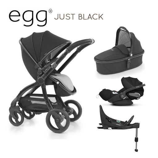 egg Travel System Just Black with Cybex Cloud Z and base - Pushchair Expert