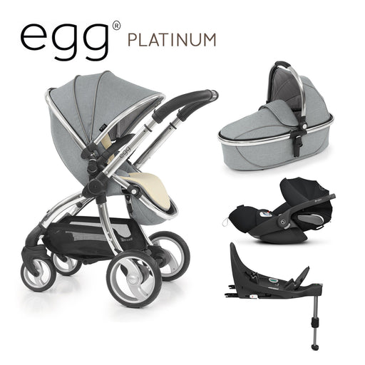 egg Stroller Platinum with Cybex Cloud Z and base - Pushchair Expert