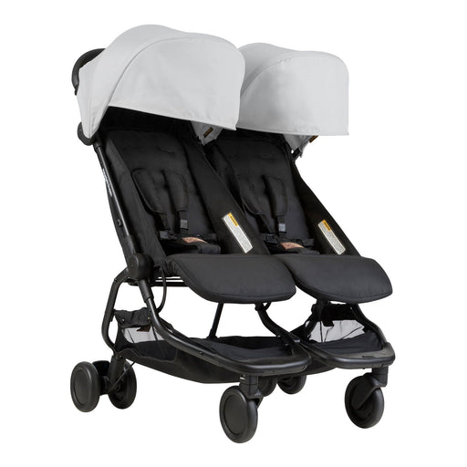 Mountain Buggy Nano Duo - Silver - Pushchair Expert