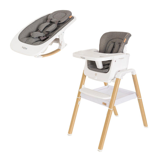 Tutti Bambini Nova Birth to 12 Years Complete Highchair Package - White/Oak