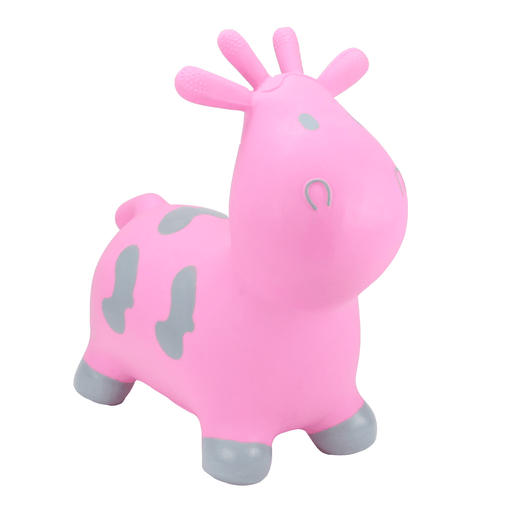 HappyHopperz - Pink Cow with Grey Spots - Pushchair Expert
