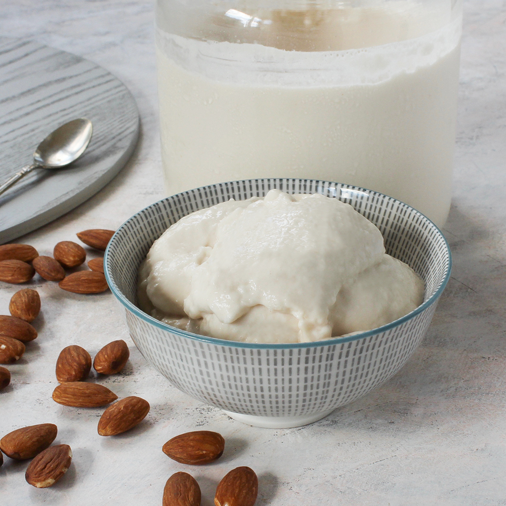 How to make almond milk yoghurt