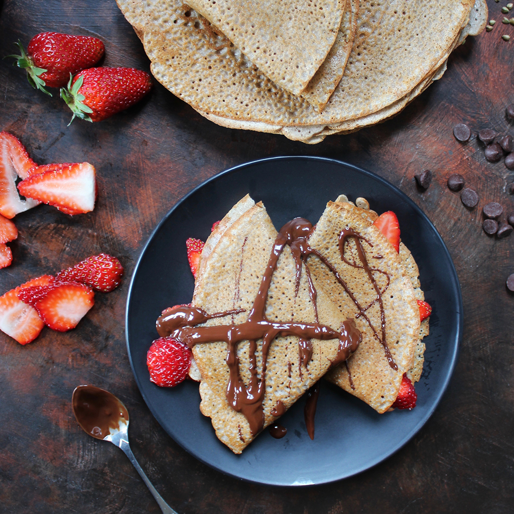 Vegan & gluten free buckwheat crepes