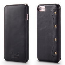 Genuine Leather Wallet Case (For iPhone)