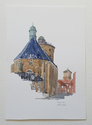 "original ""Round tower Copenhagen"""