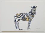 "Original ""Zebra sideview"" A4"