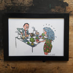"Artprint ""Chess game between businessman and mother nature"""