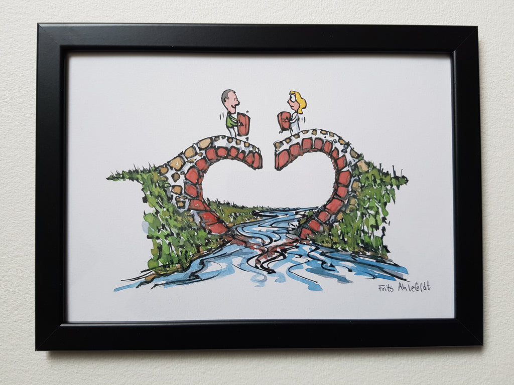 "Artprint ""Heart bridge builders"""