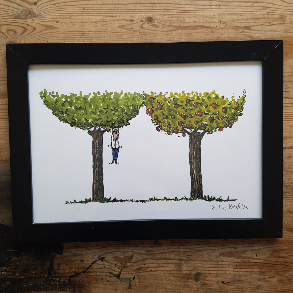 "Artprint ""Climbed the wrong tree"""