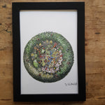"Artprint ""Round green eco community house"""