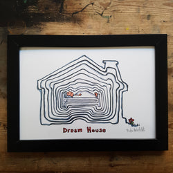 "Artprint ""Dream house"""