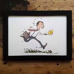 "Artprint ""Egg timer run"""