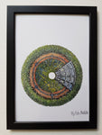 "Artprint illustration ""circle green eco house"""