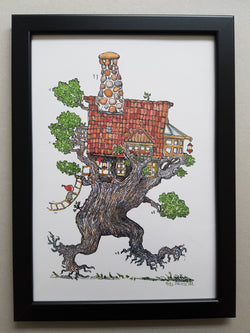 "Artprint ""Wandering Tree house Nomad"""