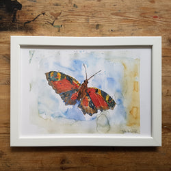"Artprint watercolor ""butterfly in the air"""